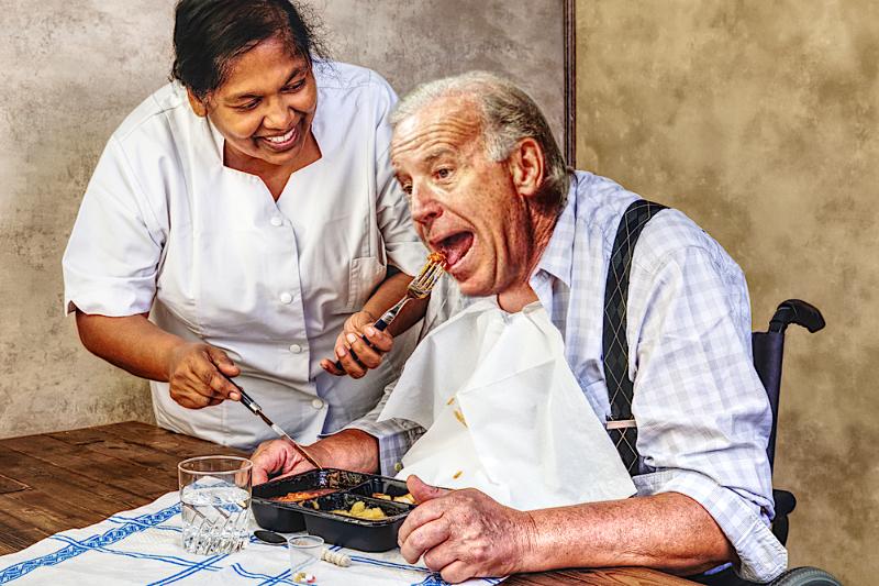 Joe Biden eating his mush