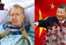 Boris hospital - xi jinping laughing coronavirus
