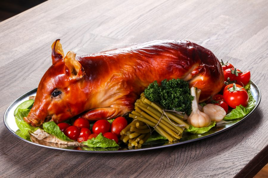 Grilled young pig like Kim Jong-un