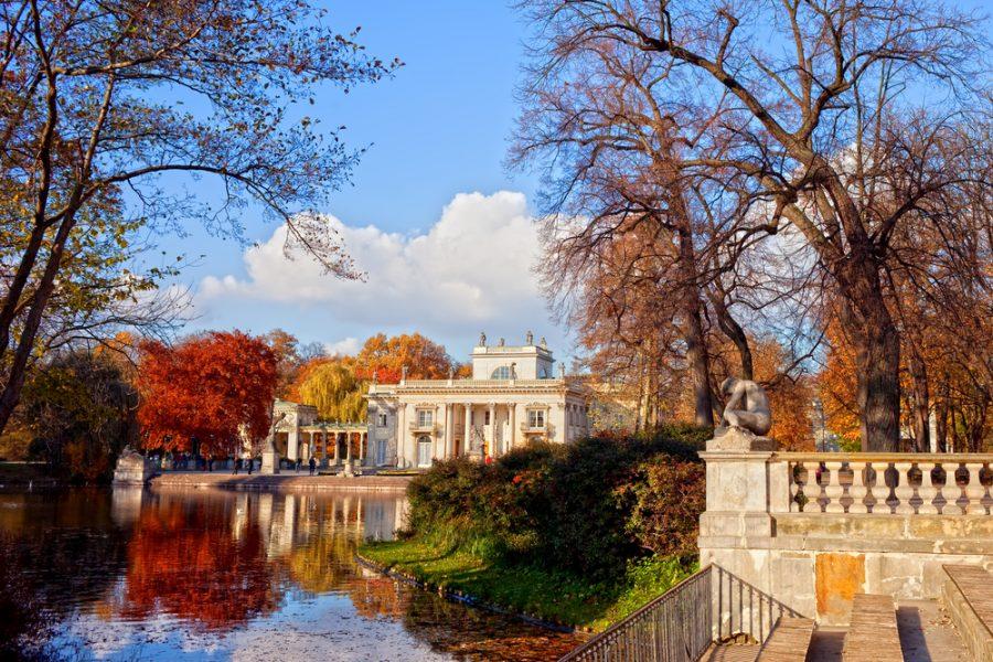 Lazienki Park in Warsaw