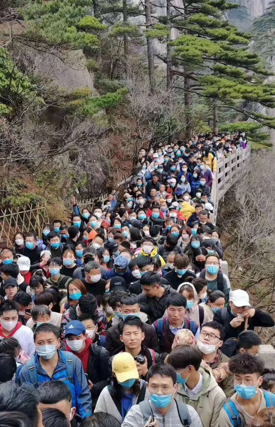 Chinese covidiots Huangshan