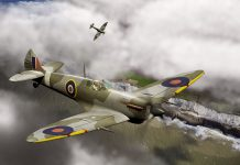 Two Spitfires over Dover - europe