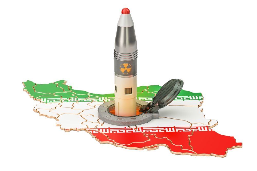 Iranian missile launches from its underground silo launch facili