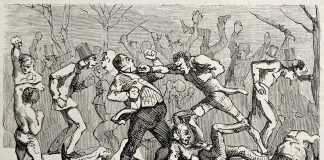 Boxing brawl
