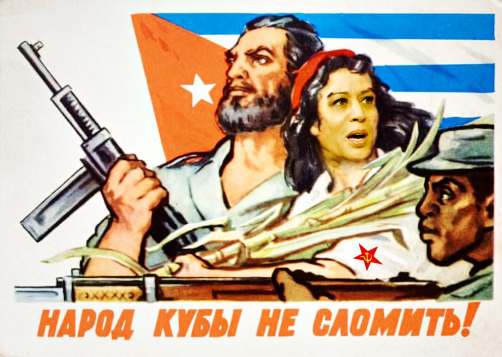 Kamala Harris Soviet Communist Cuban Poster
