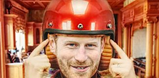 former prince harry earthquake helmet