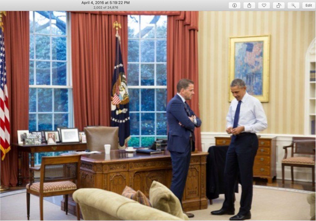 hunter biden and obama white house april 4, 2016 corruption