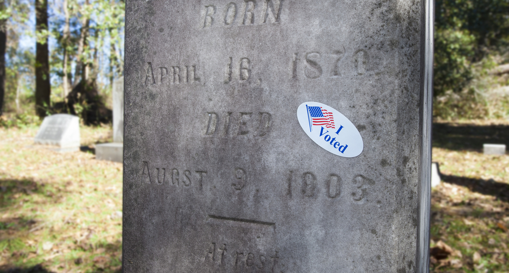 Dead person voting