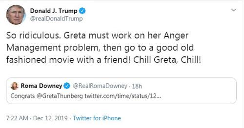 trump chill greta