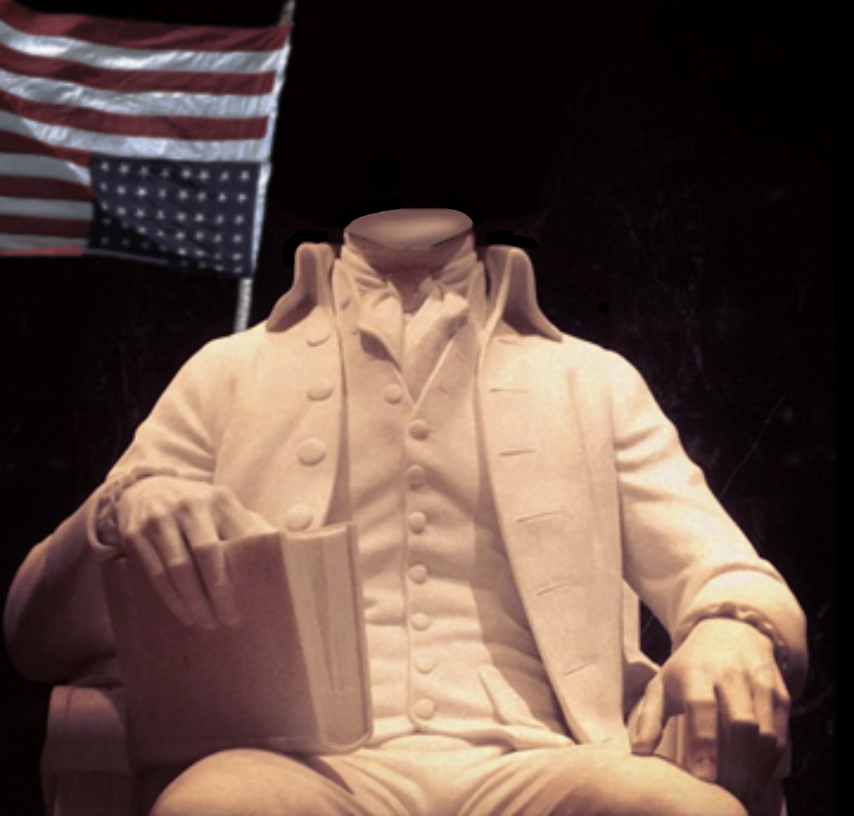 JamesMadison headless statue