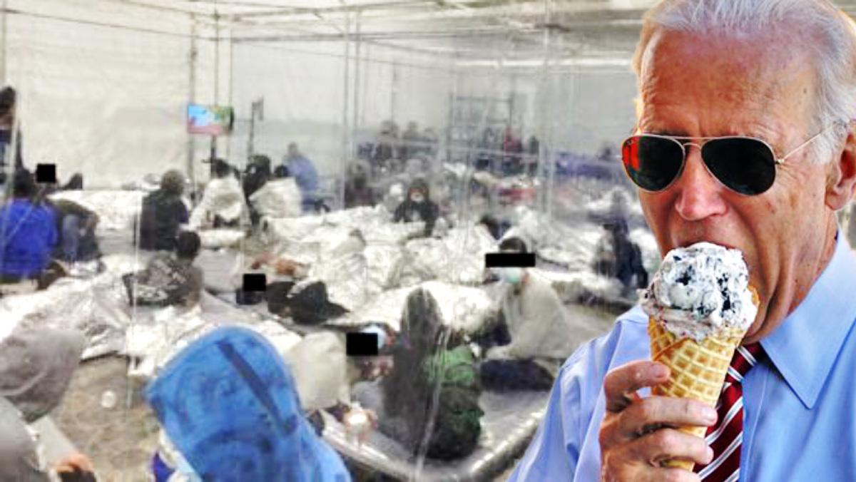 Kids-in-Biden-Cages-Biden Ice Cream