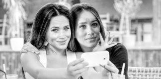 meghan markle narcissist selfie b-w