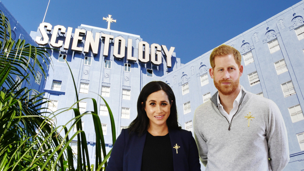 harry and meghan Church of Scientology