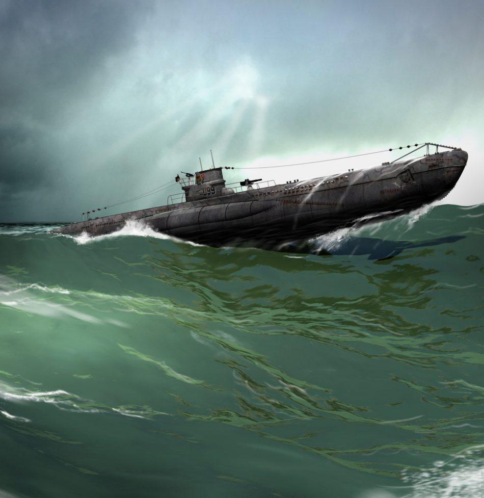 German U-Boat in the North Atlantic von der Leyen