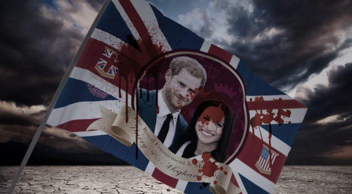 harry and meghan flag