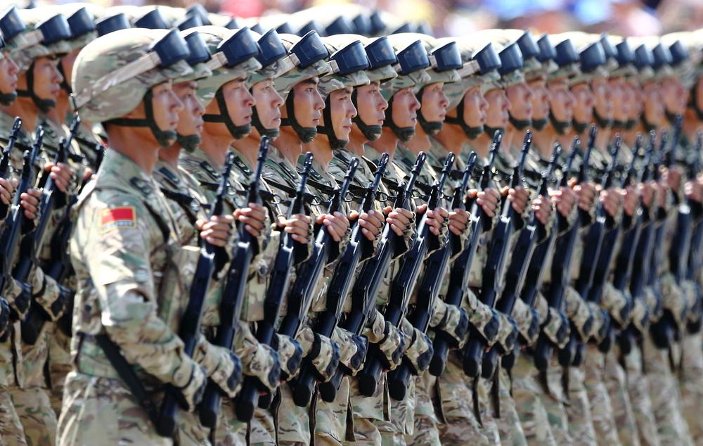 China invade taiwan PLA troops