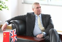 British Prince Andrew visits Shanghai