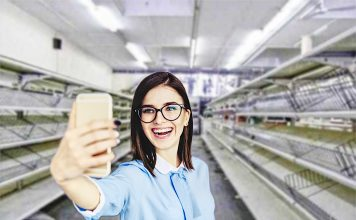 empty shelves supermarket