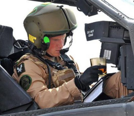 prince harry apache helicopter glass of whisky